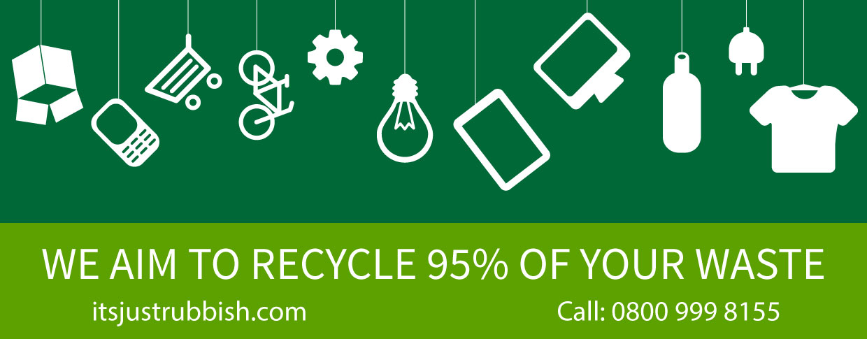Domestic commercial waste removal service. Fast same day rubbish collection in Chiswick, Ealing, Brentford, Isleworth, Middlesex, Greater London. We aim to recycle 95% of your waste call 0800 999 8155